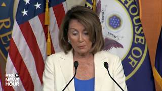 WATCH: House Minority Leader Nancy Pelosi holds news briefing