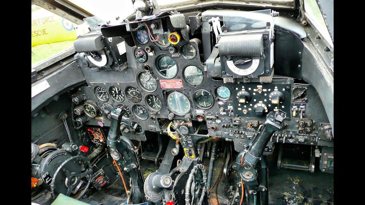 De Havilland Vampire Cockpit Youtube