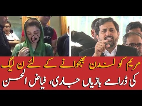 Fayyaz ul Hassan Chohan taunts on Maryam Nawaz for going London