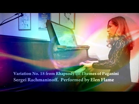 Rachmaninoff Variation From Rhapsody On Theme Of Paganini Color Music
