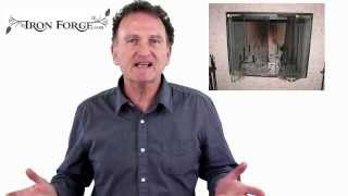(fireplace Screen Doors) Hand Forged (custom Firescreen Doors) For Your Fireplace.