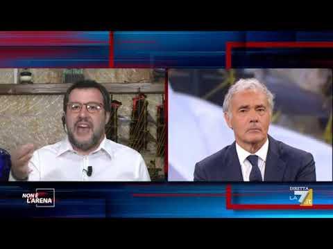 Matteo Salvini ospite a Non è l'Arena, LA 7 con Massimo Giletti - 31.05.2020