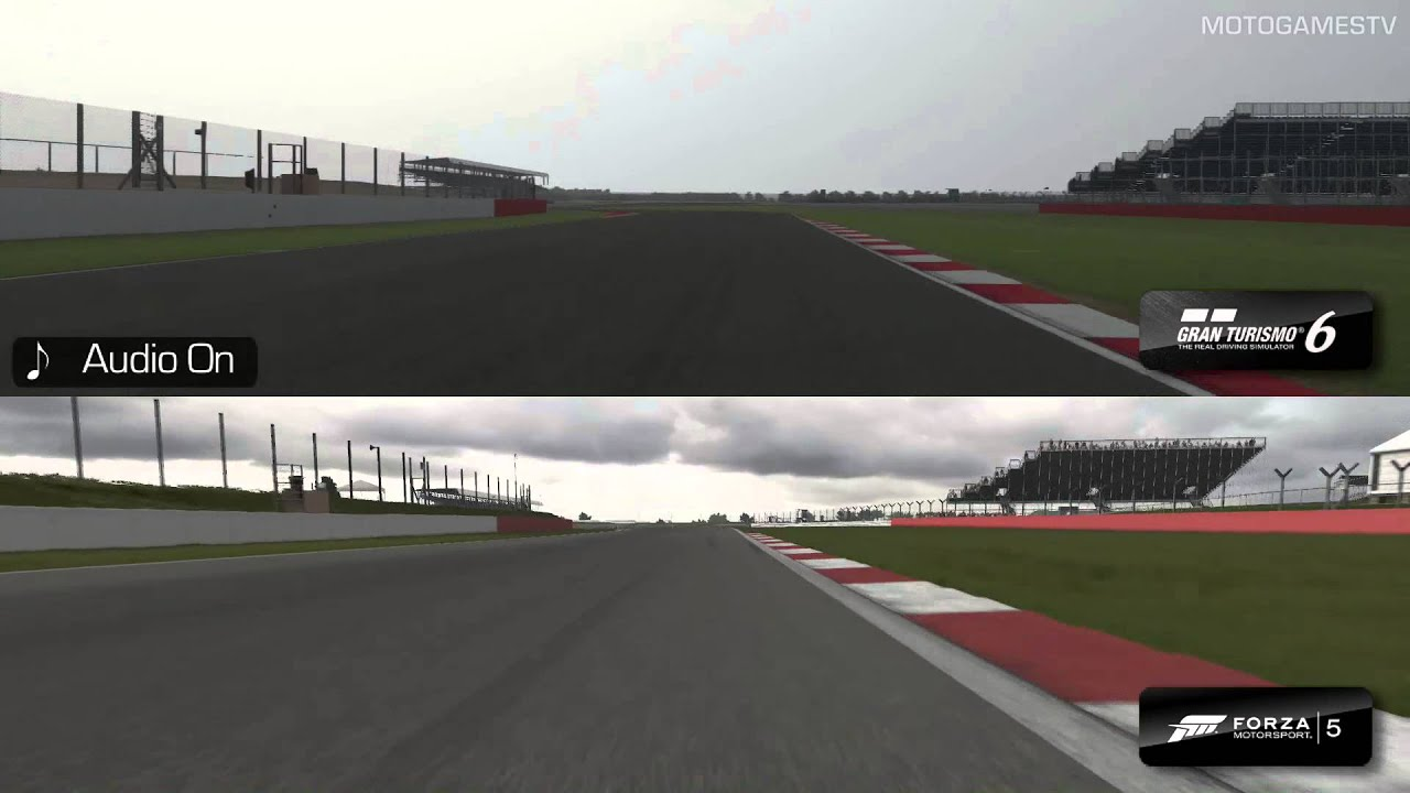Forza Motorsport 5 vs Gran Turismo 6 - Silverstone Comparison - YouTube