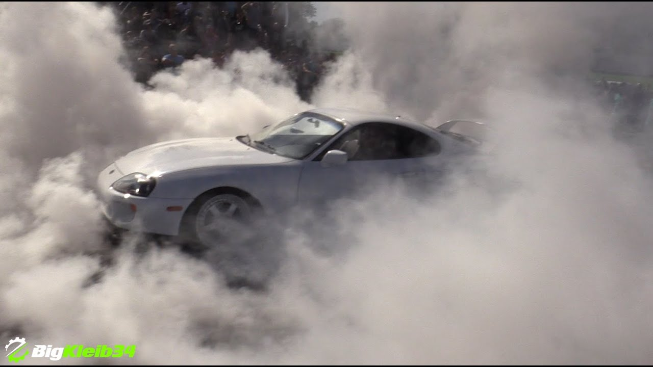 2016 Toyota Supra >> Toyota Supra Burnout FROM HELL! - YouTube