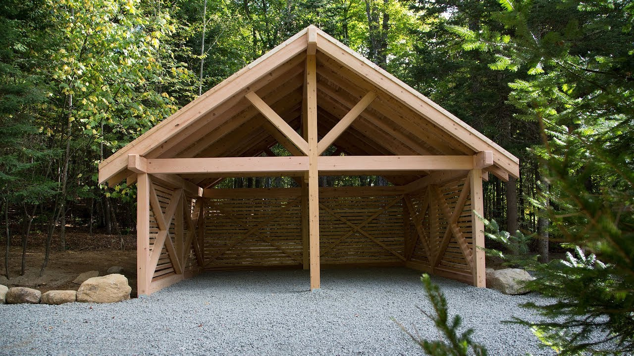 How to build a Real Cedar carport in a weekend - YouTube