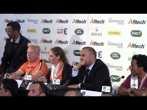 Endurance Individual & Team Press Conf. - Alltech FEI World Equestrian Games 2014 in Normandy