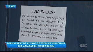 Formaturas de alunos de escolas municipais são adiadas em Mandaguaçu thumbnail