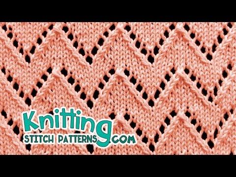 Chevron stitch   Lace Knitting #21