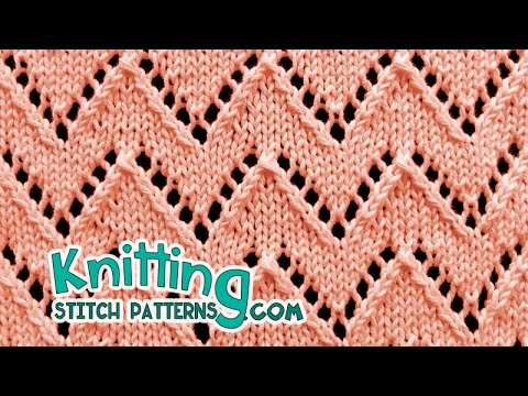 Chevron Stitch Lace Knitting 21 Youtube