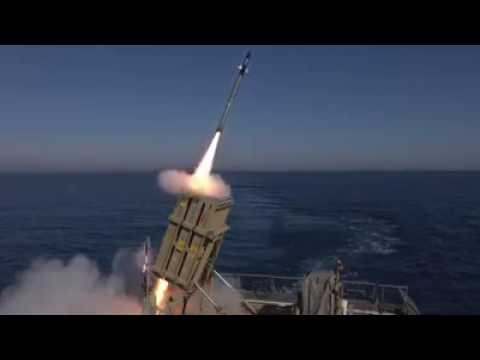 Iron Dome operates on a navy vessel (Media Resource Group)