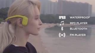 Tayogo Force, Bone Conduction Smart Headset with Mp3, Bluetooth & FM