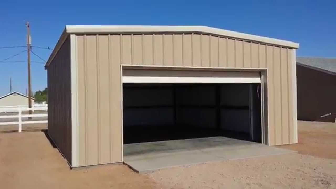 Pre engineered metal garage san tan valley az youtube for Pre engineered garage