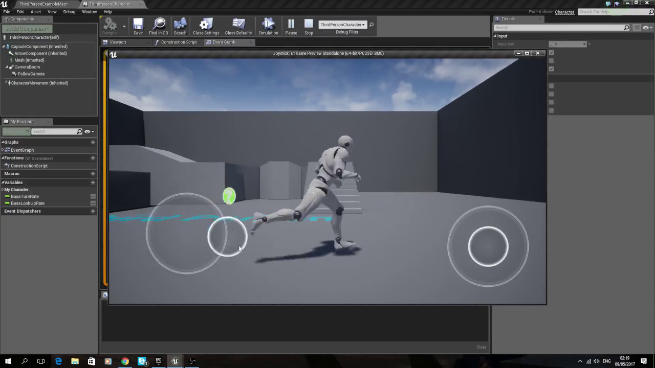 Swapping/removing virtual joysticks during gameplay in Unreal Engine 4