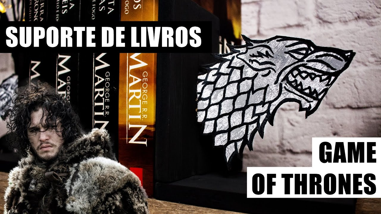 Artesanato Com Madeira Pregos E Linha ~ DIY Game of Thrones Suporte de livros (porta livros aparador) Bookends GOT YouTube