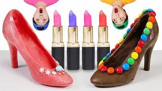 Edible Lipstick Chocolate Makeup Mukbang 먹는 립스틱 DONA 도나 먹방