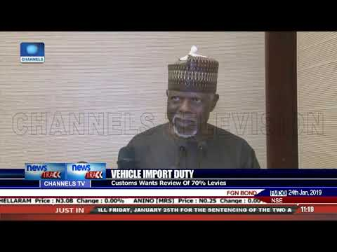 Vehicle Import Duty: Customs CG Calls For Review Of 70% Levies
