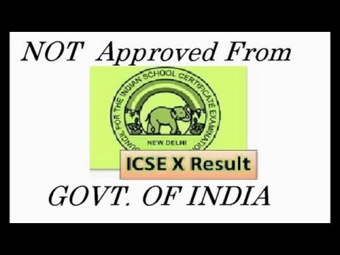 CISCE - ICSE/ISC Board Not Approved Govt. Of India-RTI