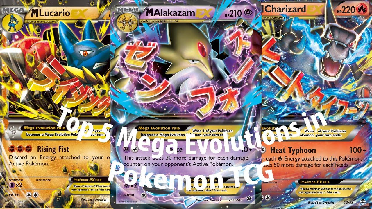 Top 5 BEST Mega Evolutions in Pokemon TCG (inc. latest *Fates ...