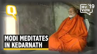 PM Modi Meditates in Kedarnath Before Last Phase of Voting | The Quint