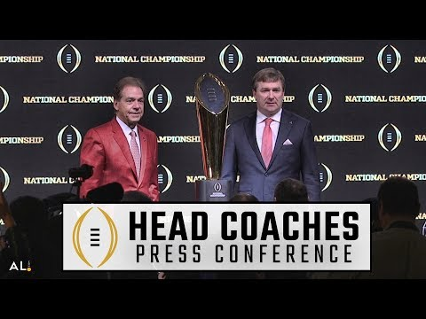 Hear what Nick Saban, Kirby Smart had to say on the eve of the 2018 CFP National Championship