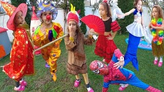 KOSTÜM CHALLANGE 3 , cadı, kızılderili, ispanyol, uğur böceği, palyaço