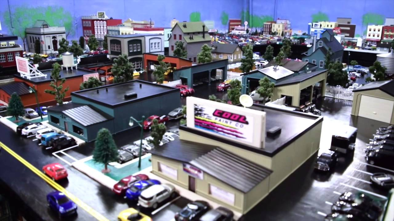 Pictures Of Toy Models Of Cities : Miniature model city richgrove usa youtube