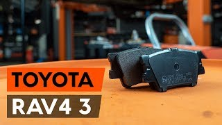 rear left right Brake caliper support bracket change on TOYOTA RAV 4 III (ACA3_, ACE_, ALA3_, GSA3_, ZSA3_) - video instructions