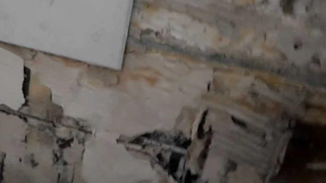 Une cloison détériorée par l'humidité   youtube