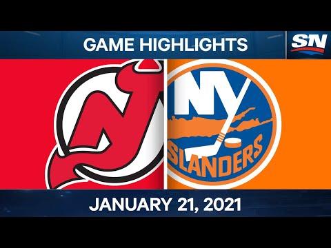NHL Game Highlights | Devils vs. Islanders - Jan. 21, 2021