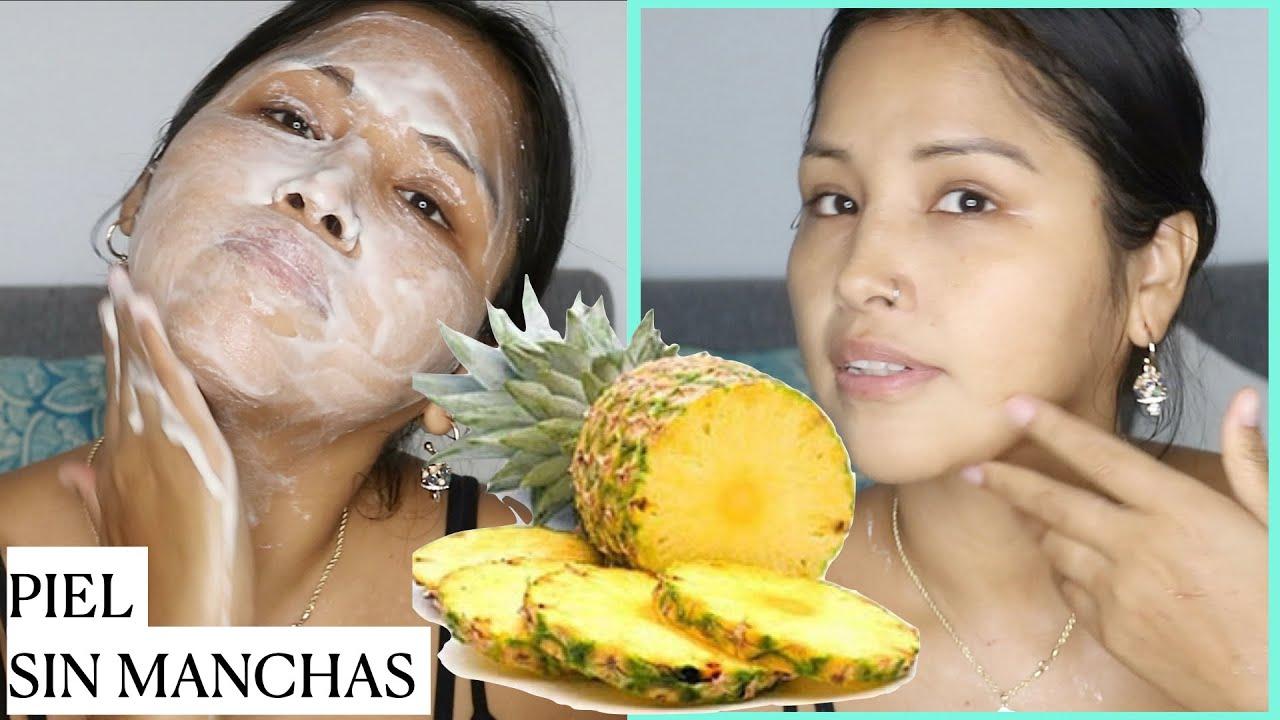 ELIMINA MANCHAS EN 2 NOCHES CON UNA TAJADA DE PIÑA    Maya Belleza de la India