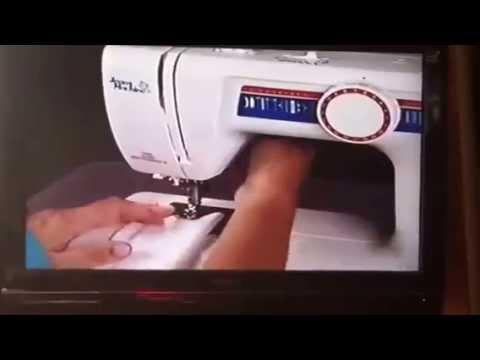 PT 2: White Jeans Machine 4075 ~ Straight Stitch Instructions ...