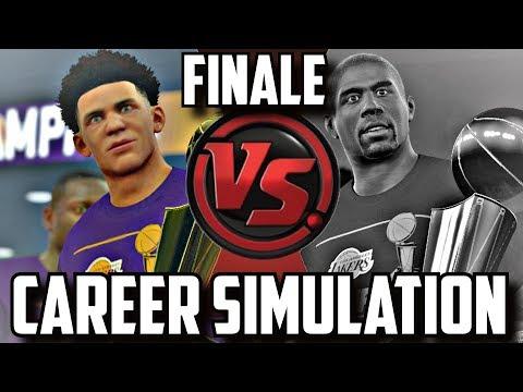 SIMULATING LONZO BALL'S & MAGIC JOHNSON'S NBA CAREERS!! FINALE!! #CareerSimVS