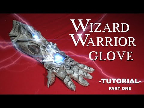 KRIEGER HANDSCHUH Wizard Warrior Gauntlet / DIY Tutorial Part 1