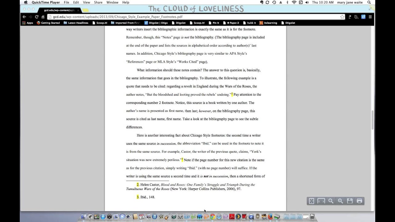 chicago style citation footnotes essay The chicago/turabian referencing style is used mainly for social sciences this referencing format uses footnotes, endnotes, and parenthetical citations.