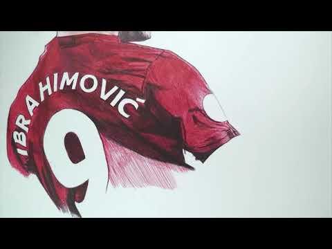 Zlatan Ibrahimovic Pen Drawing   Manchester United   ART