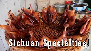 Chinese Street Food and Snacks | Sichuan Salted Duck and Local Specialties
