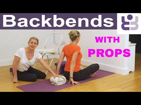 Backbends With Props -  Intermediate Iyengar Yoga Tutorial
