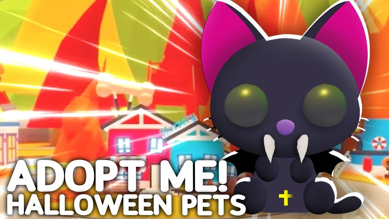 NEW Adopt Me Halloween Pets! Roblox Adopt Me Halloween Update Countdown Vampire Pet 2021