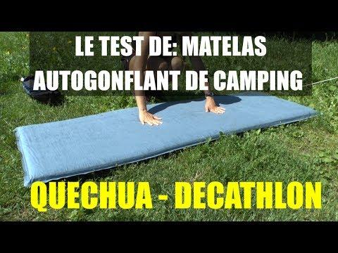 le test de matelas autogonflant de camping a300 quechua decathlon