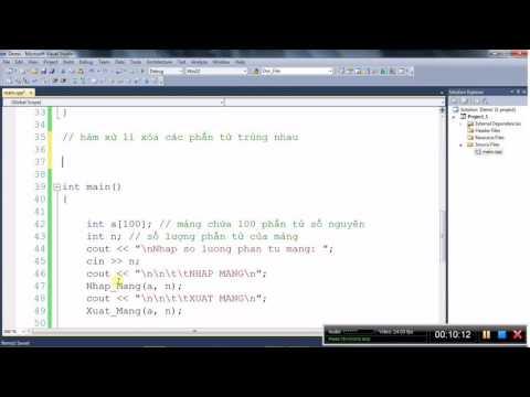 [Lập trình C/C++] Xóa các phần tử trùng trong mảng số nguyên