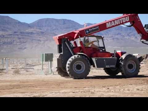 Manitou MTA12042 Reach Forklift on Jobsite