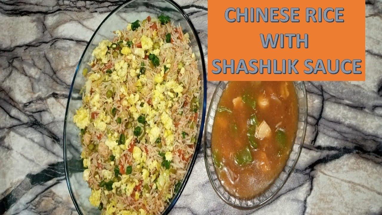 Chinese rice recipes | Chicken Shashlik | Tasty Meals with Hamdani