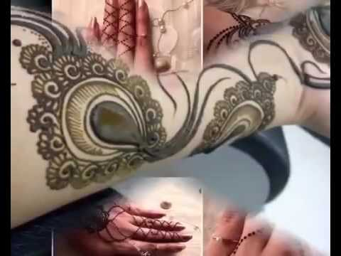 Simple Mehndi Tattoo Hands : Simple mehndi designs for hands henna tattoo youtube