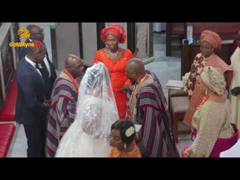 WEDDING CEREMONY BETWEEN 'TOLU ADEBUTU & JUWON OBASANJO' (CHURCH SERVICE)