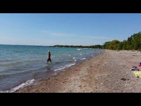 Lake Erie - James N Allan Provincial Park in Dunnville, Ontario.