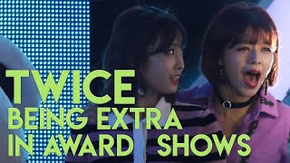 Download TWICE being extra in award shows