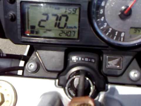 honda cb600f hornet макс скорость