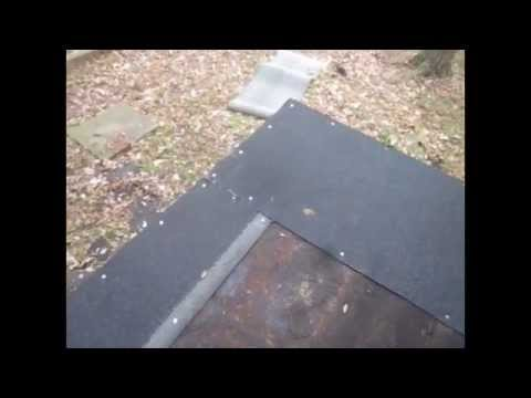 How to install reinstall flat roof residential DIY