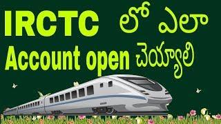 how to create IRCTC account in telugu 2017