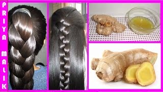 Repeat youtube video Homemade Ginger Hair Oil For Long Hair, Soft Hair, Smooth Hair,Thick hair and Healthy Hair